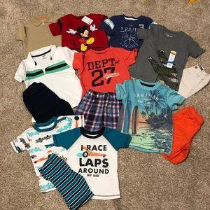 EUC Summer toddler boys clothing lot 3t